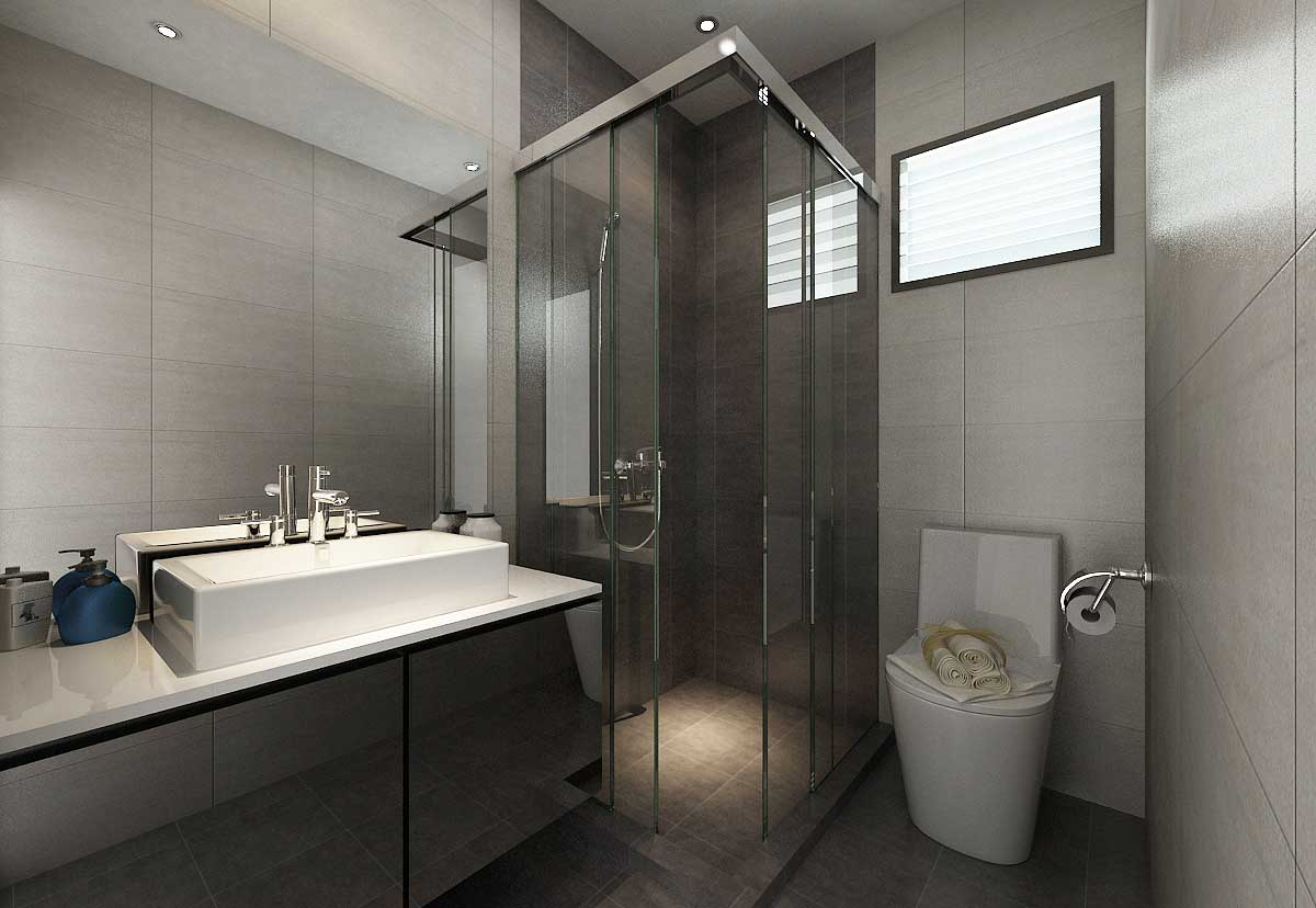 Kitchen toilet renovation for Bathroom designs singapore