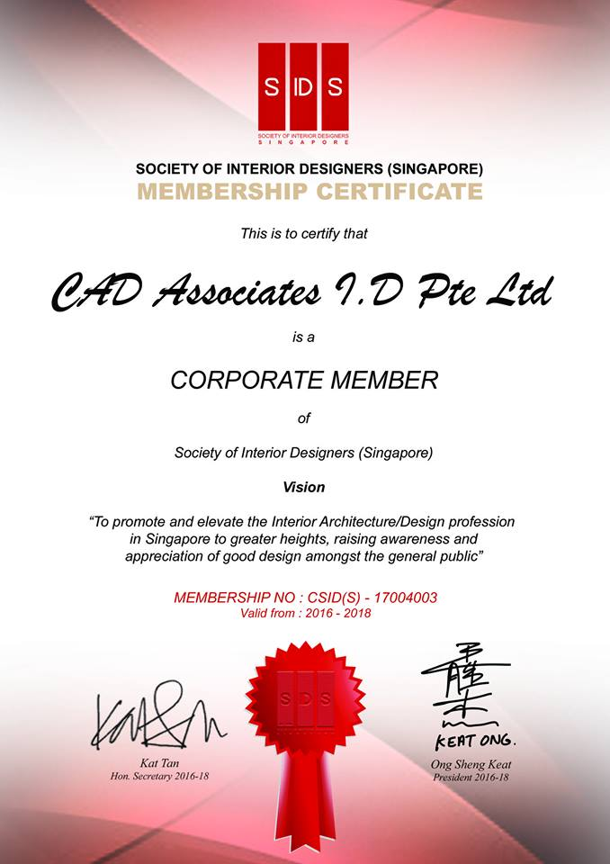 Society of Interior Designers Membership Certificate