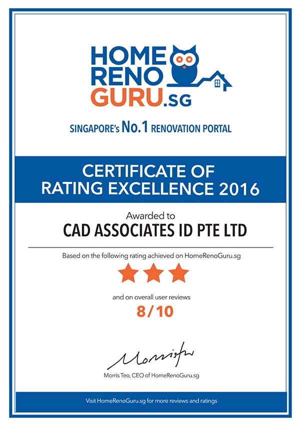 Certificate of Rating Excellence 2016